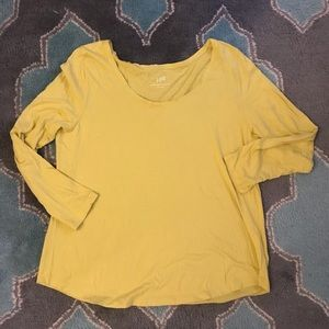 J Jill Whisper Weight scoop neck tee L soft cotton